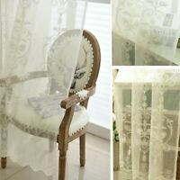 Exotic Embroidery Floral Net Curtain Pelmet Tulle Voile Window Panel Drape Sheer