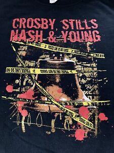 CROSBY, STILLS NASH & YOUNG T SHIRT (L)