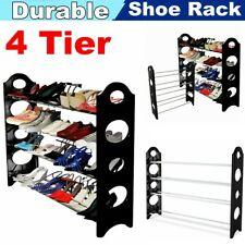 4 Tier Metal Shoe Rack Organizer Shelf Stand Wall Bench Closet Storage Holder