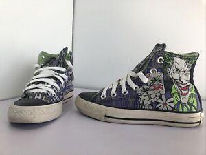 Converse Batman Hi Top Canvas Trainers Sneakers DC Comics M UK 3 F UK 5