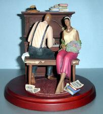 John Holyfield Serenade Lenox Ebony Visions Figurine Piano Scene Limited Edt NEW