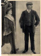 Stella Hohenfels & Frhr.Alfred von Berger (Wiener Burgtheater) von 1906