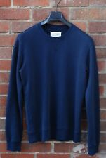 Maison Margiela Sweatshirt Elbow patch Size 46 Navy Blue
