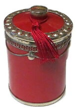 Moroccan Handmade Ceramic & Silver Metal Trim Spice Jars with Lid MD