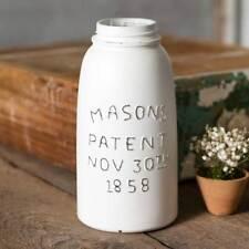 New Mason Jar whitewash Jar