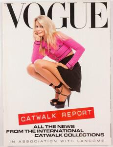Claudia Schiffer Kate Moss Helena Christensen Trish Goff UK VOGUE CATWALK REPORT