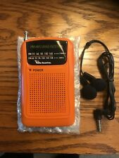 New! Dukes of Hazzard Orange New mini AM/FM transistor radio
