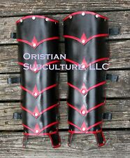 Leather Layered Dragon Rider Greaves leg Armor SCA LARP fantasy medieval cosplay