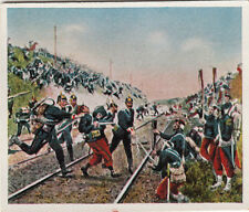 N°225 Pickelhaube Soldiers Battle  Baden Franco-Prussian War 1870 IMAGE CARD 30s