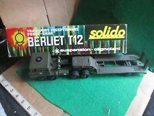 SOLIDO BERLIET T12 TANK TRANSPORTER (LOT U67) BOXED