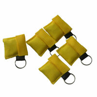 40pcs First Aid One way Valve CPR Face Mask/Shield Rescue Training Yellow New