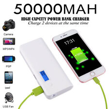 50000mah Portable LCD Power Bank 2USB Battery Charger For iPhone7 7Plus