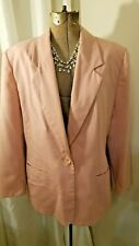 Leslie Fay women's 16 petite baby pink blazer long sleeves fully lined-