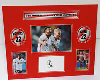 LYS MOUSSET - SHEFFIELD UNITED FC - SIGNED PHOTO MONTAGE