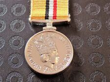 IRAQ MINIATURE MEDAL - TOP QUALITY WITH 6 INCHES RIBBON UK MADE