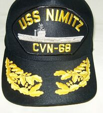 US NAVY CAP ORIGINAL USS NIMITZ Made in USA Double Eggs One Size Fits All