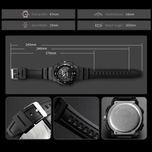SKMEI Watch Men's Waterproof Sport Army Alarm Date Wrist Analog Watches V2T3