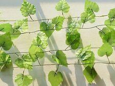 "Five 90"" Grape Leaf Vines Artificial Ivy Hanging Home Wedding Arch Decoration"