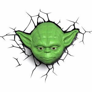 Star Wars Yoda Lamp Face 3D Deco LED Wall Light 3D Light FX
