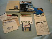 3d Helicopter 1987 Simulator Sierra IBM PS/2 MS DOS Software PC 3.5 5.25 Disk