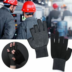 Driving Mittens Open/Half Fingers Anti-Slip Fishing Gloves Sun Protection