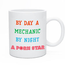 Tea & Coffee Mug Mechanic Mugs Cup For Men Boyfriend Husband Gift Funny Novelty