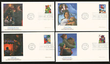 #3108-11 32c Christmas, Family Scenes Set of 4 FDC's Fleetwood Cachets FD7498