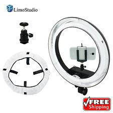 "LimoStudio 18"" 5500K Dimmable Ring Light W/ Phone Holder Bag Camera Photo Studio"