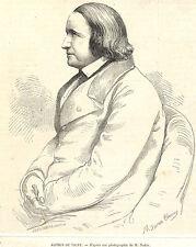 ALFRED DE VIGNY GRAVURE ILLUSTRATION 1863