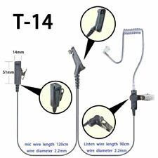 2-wire Surveillance Headset For Motorola APX2000 APX5000 DGP6150+ Portable Radio