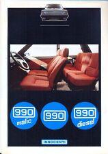 INNOCENTI 990 MATIC & Diesel ITALIANO delle vendite sul mercato opuscolo