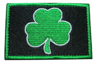Lucky Shamrock Clover Irish Ireland St. Patrick Embroidered Hook and Loop Patch