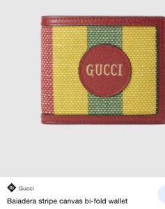 New Gucci Baiadera Bifold Multicolor mens wallet Card Holder $899