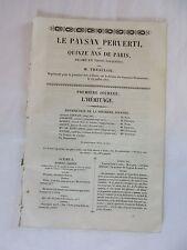 LE PAYSAN PERVERTI ou QUINZE ANS DE PARIS..par M. THEAULON