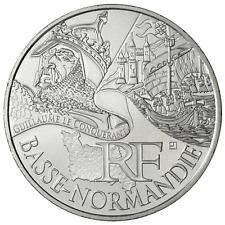 10 euros des régions personnages en argent Basse Normandie 2012