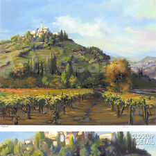 """Image 20""""x16"""" WINE COUNTRY by JENNIE TOMAO NUMBERED #141/295 with SIGNATURE S/N"""