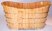 """Alfi AB1105 63"""" Free Standing Cedar Wood Bath Tub"""
