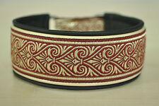 Hundehalsband,Standardhalsband,Leder,Bordüre,mehrfarbig,individuell,Handarbeit