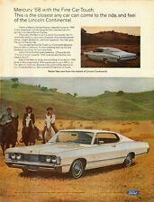 1968 Vintage ad for Ford`Mercury Park Lane`White`Hardtop `2-door (052714)