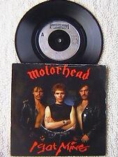 "MOTORHEAD ""I GOT MINE"" 7"" PICTURE SLEEVE 45 U.K. IMPORT NWOBHM W/ TOUR DATES"