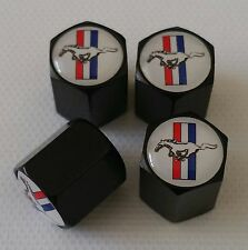 MUSTANG Wheel Valve Dust caps BLACK  S LINE ALL COLOURS ALL MODELS Shelby GT500