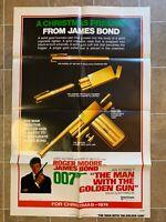 THE MAN WITH THE GOLDEN GUN * ADVANCE ORIGINAL MOVIE POSTER JAMES BOND 007