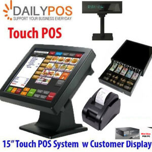 Touch POS System Basic Restaurant Cafe Pizza Fish Chips Takeaway Cash Register