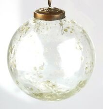 B020 Clear Recycled Glass With Impurities Ball Bauble Christmas Tree Ornament