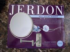 "Jerdon 8"" 1X & 5X Magnification Wall Mount Mirror Nickel Finish 360 Swivel"