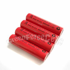 4 pcs AAA 3A 450mAh 1.2V Ni-Cd Ni-Cad Solar Light Rechargeable battery Red
