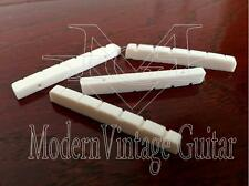 "4  Modern Vintage Guitar 42mm WHITE Slotted RESIN Nuts 1 5/8"" - 1 11/16"" Width"