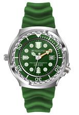 Army Taucher Herrenuhr Grün 1000M Citizen 1S13 Werk Helium Ventil Datumsanzeige