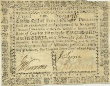 1780 STATE OF VIRGINIA $500 AMERICAN REVOLUTIONARY CURRENCY - HIGH DENOMINATION