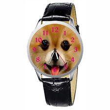 Smiling Pomeranian Stainless Wristwatch Wrist Watch